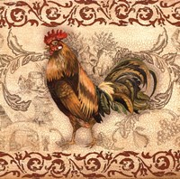 Toile Rooster I Fine Art Print