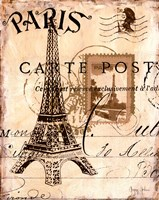 Paris Collage I Fine Art Print