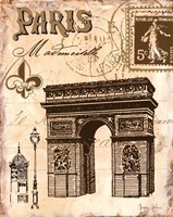 Paris Collage II Fine Art Print