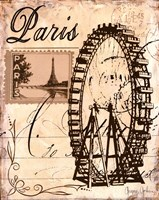 Paris Collage III Fine Art Print