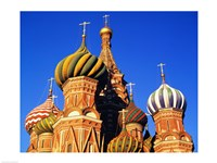 High section view of a cathedral, St. Basil's Cathedral, Moscow, Russia Fine Art Print
