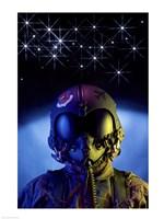 US Airforce Fighter Pilot Fine Art Print