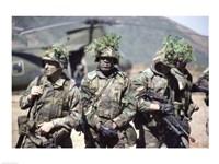 Camouflage, U.S. Marines Fine Art Print