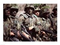 Camouflage U.S. Marines Fine Art Print