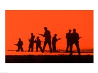 Silhouette of army soldiers, US Military Special Forces - various sizes