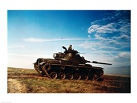 Solider in a military tank Fine Art Print