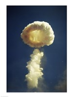 Mushroom cloud formed bomb testing Fine Art Print