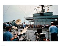 Persian Gulf: A Band Plays For the USS Blue Ridge - various sizes