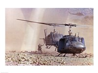 UH-1A Iroquois Helicopters Fine Art Print