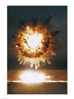 San Clemente, CA The Explosion From A BGM-109 Tomahawk Missle - various sizes