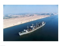 USS Neosho Transits the Suez Canal Fine Art Print