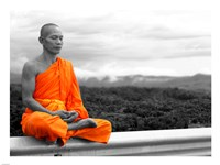 Abbot of Watkun Meditating Fine Art Print