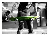 Green Skateboard - various sizes