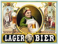 Lager Bier Framed Print