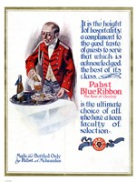 Pabst Blue Ribbon Beer 1911 Fine Art Print