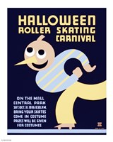 Halloween Roller Skating Carnival, WPA Poster, 1936, 1936 - various sizes, FulcrumGallery.com brand