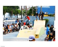 Pista de Skate em poa sao Paulo Brasil Fine Art Print