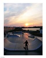 Skate Park, Hove Lagoon, UK Fine Art Print