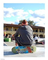 Skater In Florence On Board Fine Art Print