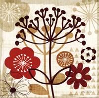 "Floral Pop II by Mo Mullan - 12"" x 12"""