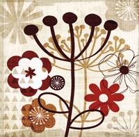 "Floral Pop III by Mo Mullan - 12"" x 12"""