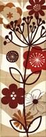 "Floral Pop Panel II by Mo Mullan - 12"" x 36"""
