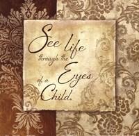Eyes of a Child Framed Print