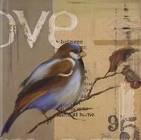 Blue Love Birds II Fine Art Print