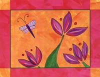 Blooms and Butterfly Fine Art Print