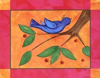 """Berries and Bird by Serena Bowman - 14"""" x 11"""""""