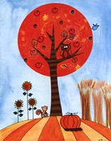 "Tree in Autumn by Serena Bowman - 11"" x 14"" - $13.99"
