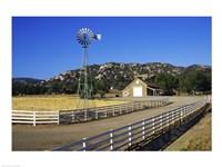 Industrial windmill on a farm, California, USA - various sizes