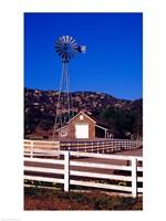 USA, California, windmill on farm - various sizes