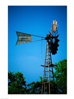 Low angle view of an industrial windmill, Winterset, Iowa, USA Fine Art Print