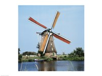 Windmills Kingergisk Netherlands Fine Art Print