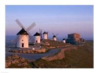 Windmills, La Mancha, Consuegra, Castilla-La Mancha, Spain Fine Art Print