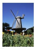 Low angle view of a traditional windmill, Queen Wilhelmina Garden, Golden Gate Park, San Francisco, California, USA - various sizes