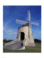 Windmill at the Whim Plantation Museum, Frederiksted, St. Croix Vertical Fine Art Print