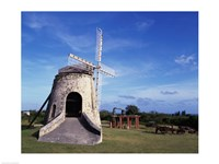 Windmill at the Whim Plantation Museum, Frederiksted, St. Croix Fine Art Print