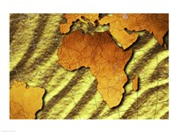 Close-up of a Map of Africa