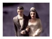 Close-up of a wedding cake figurine Fine Art Print