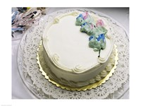 Close-up of a cake on a tray Fine Art Print