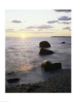 Rocks on the beach at sunrise - various sizes, FulcrumGallery.com brand