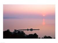 Sunrise view from Tihany, Tihany, Lake Balaton, Hungary Fine Art Print