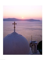 Sunrise, Santorini, Oia, Cyclades Islands, Greece Fine Art Print