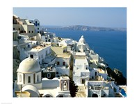 Skyline in Cyclades Islands, Greece Framed Print