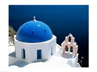 Santorini, Oia , Cyclades Islands, Greece Arial View Fine Art Print