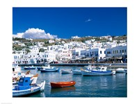 Town View, Mykonos, Cyclades Islands, Greece Framed Print