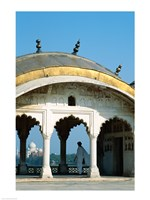 Taj Mahal seen through arches at Agra Fort, Agra, Uttar Pradesh, India - various sizes