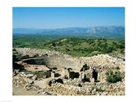 Royal Tombs Grave Circle, Mycenae, Greece Fine Art Print